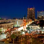 San Antonio Texas Christmas Skyline