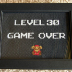 Level 30 Game Over Cross Stitch