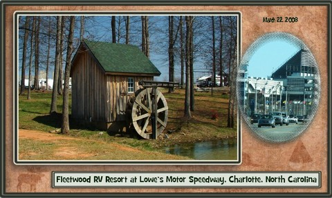 Fleetwood rv campground at lowe 39 s motor speedway nc for Camping at charlotte motor speedway