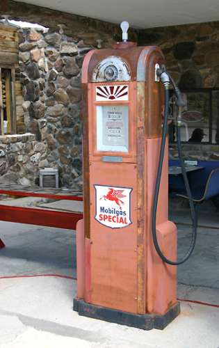 gas station pump. Old Gas Pump