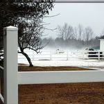 A White fence, A White Barn, and