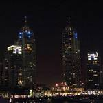 The Towers at night