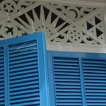 Blue Shutters and Fretwork