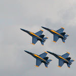 Blue Angels Close Formation