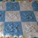 Blue & White Blanket