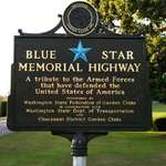 Blue Star Memorial Highway Sign