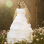 Bridal Portrait w/ Lens Flare