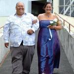 Bride bing walked down the Isle