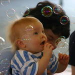 Bubbles at baby gym.