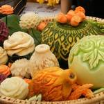 Carved Fruit and Veges