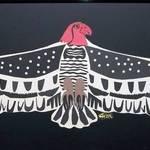 Cher's vulture paper cutout