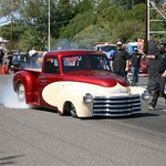 Chevy Truck Doing Burnout