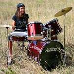 Bianca at the Drums