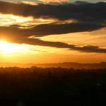 Lattice clouds sunset