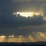 Sun Rays Breaking Thru.