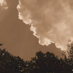 Clouds sepia