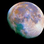 Color Enhanced Moon