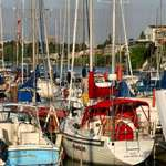 Colourful Sailboats at Rest