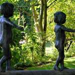 """Continuity"" 2 - bronze boy & girl"