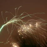 Firework trails