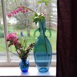 Bouquets in Blue Vases