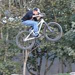 Mountain Bike & He's really Flyin'