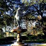 Fountain in front of Audubon Park
