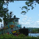 Graffiti Tug on the Hudson River