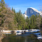 Half Dome over Merced River