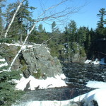 grand falls frozen solid