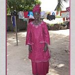 Lady In Gambian Traditional Dress