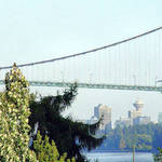 Lions Gate Bridge-North span-city beyond