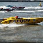Racing for the bouy