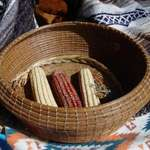 Pine Needle Basket and Indian Corn