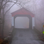 Misty Covered Bridge Bucks Co PA
