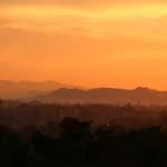 June Sunset over Mangere Mountain.