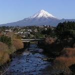 Mt Egmont & the Waiwakaiho River
