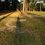 My shadow on the landscape