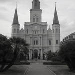 St. Louis Cathedral in Black and White