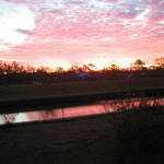 Sunrise over Bayou St. John