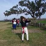 Andrew Jackson looks on the Battle