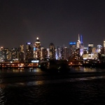 New York Night Skyline Sept 11