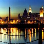 Albert Dock at nightfall ..