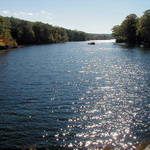 Glistening lake