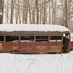 Old Rusted School Bus