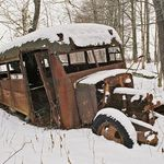 Old Rusted Schoolbus