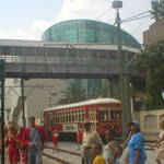 Streetcar and Aquarium of Americas
