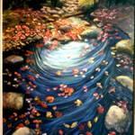 Swirling Stream-painting