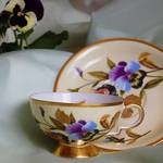 Pansy Cup and Saucer