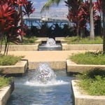 Pearl Harbor Visitor Center Fountains